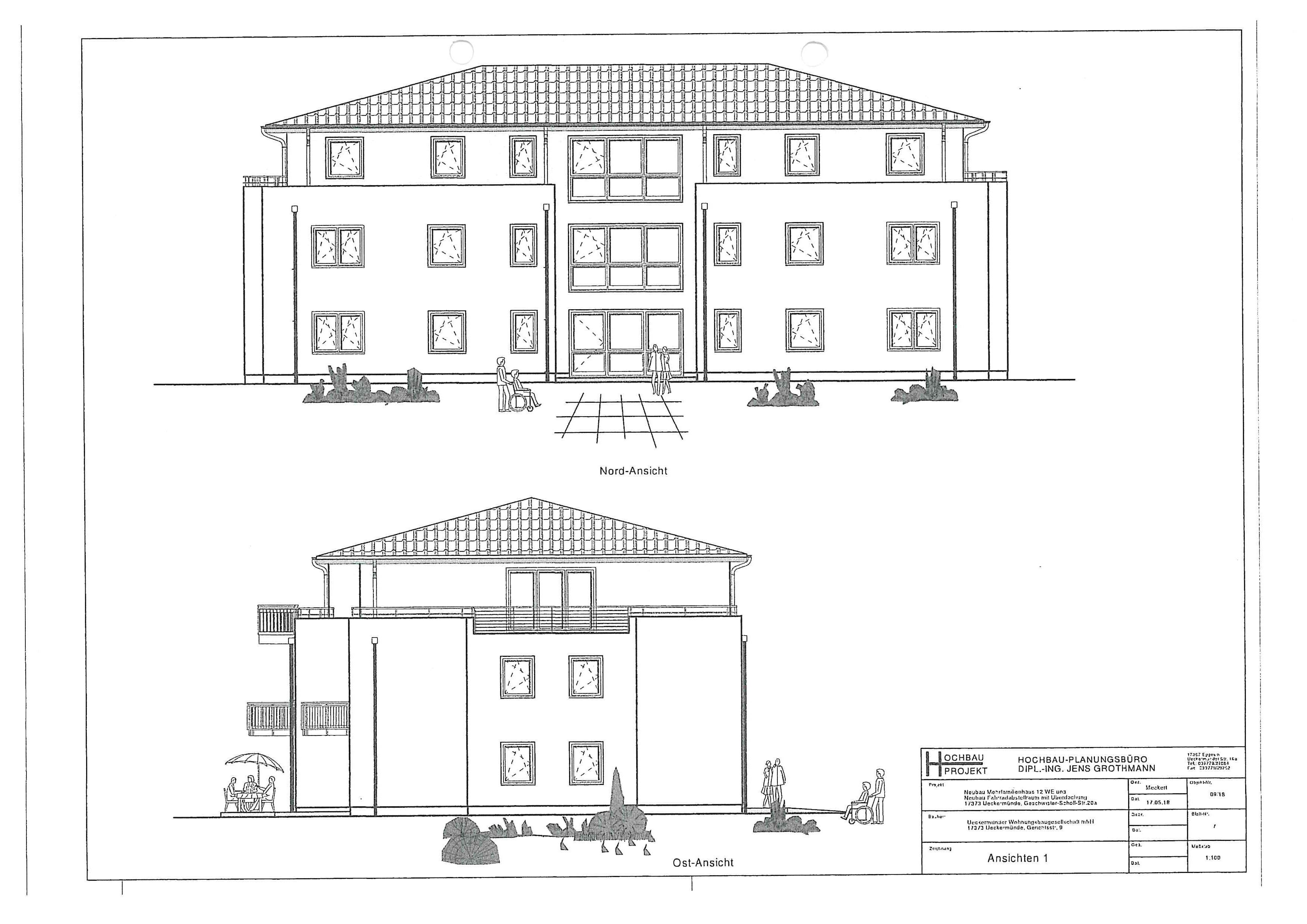 UWG - Wohnung Neubauprojekt G.-Scholl-Str. 20a